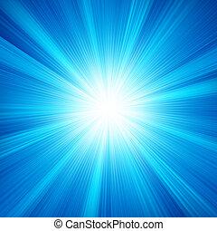uno, blu, disegno colore, con, uno, burst., eps, 8