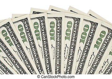 uno cien dólar, plano de fondo