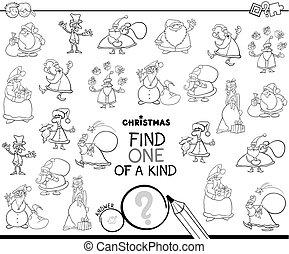 uno clase, navidad, carácter, color, libro