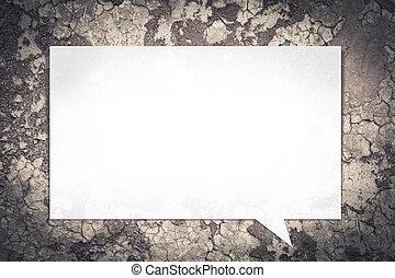 uno, concreto, cornice, vuoto, wall.