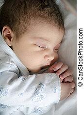 uno, día, recién nacido