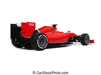 uno, fórmula, coche de la raza