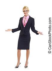 uno, giovane, attraente, donna professionale