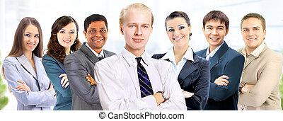 uno, gruppo persone affari, in, il