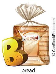 uno, lettera b, per, bread