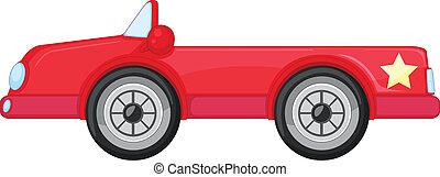 uno, macchina rossa