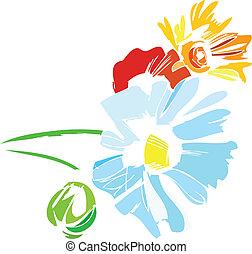 uno, mazzolino, di, wildflowers