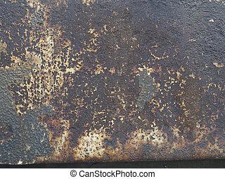uno, metallo, texture.