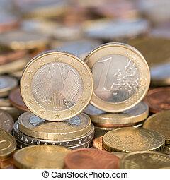 uno, moneda, alemania, euro