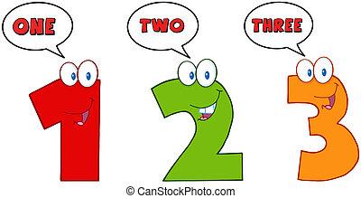 uno, numeri, tre