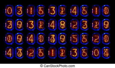 uno, numerico, contatore, e, sequenza numero, filmato, con,...