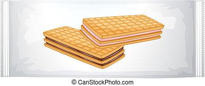 uno, pacco, di, crema, biscotti