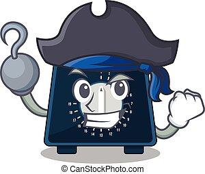 uno, pirata, carácter, avisador, diseño, gancho, cocina, ...