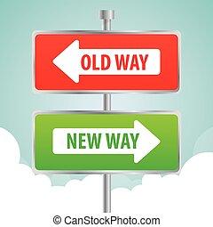 uno, pubblicità, modo, segno, disegno, strada
