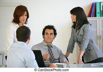 uno, riunione affari