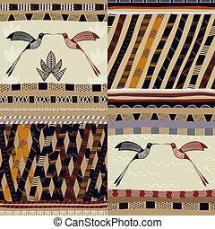 uno, set, di, modelli, tribale, pittura