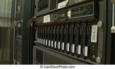 uno, sistema, blocco, di, il, computer, server