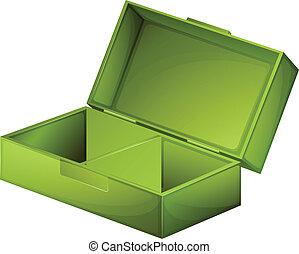 uno, verde, medico, scatola