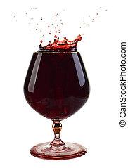 uno, vetro vino