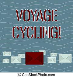 uno, viaje, uso, concepto, palabra, sobres, empresa / ...