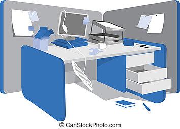 unordentlich, arbeitsstation