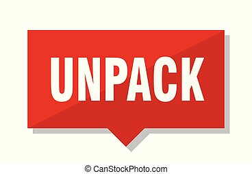 unpack red tag