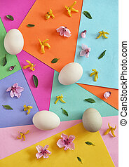 unpainted, 卵, 花, 春