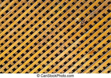 unpainted lattice panel for background