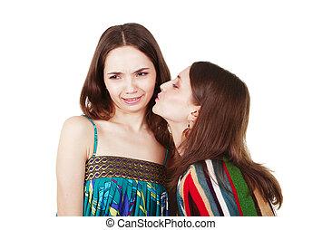 unpleasant woman kiss