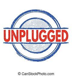 Unplugged grunge stamp