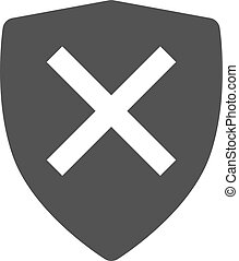 Unprotected, unsafe, alert icon vector image.Can also be...