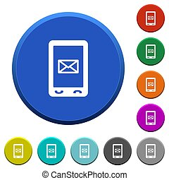 Unread SMS message beveled buttons