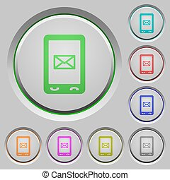 Unread SMS message push buttons