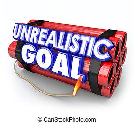 Unrealistic Goal Dynamite Bomb Impossible Mission ...