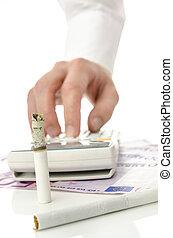 Unreasonable money spending for cigarettes