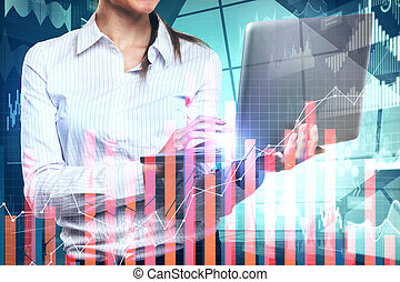 Analytics and finance concept
