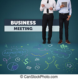 Unrecognizable people at the business meeting