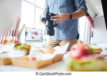 Unrecognizable Photographer