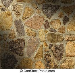 unregelmäßig, wand, geformt, steine, mauerwerk