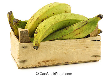 unripe baking bananas