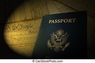 uns, reisepaß, und, verfassung