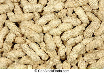 Background of unshelled peanuts