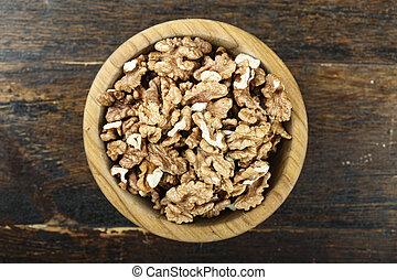 walnuts in a plate