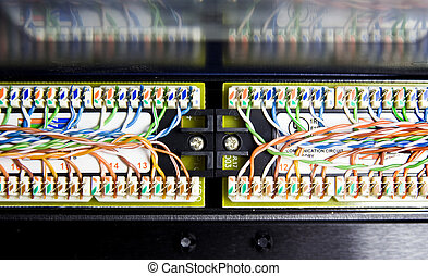 Unshielded twisted pair - Detail of UTP cables (unshielded ...