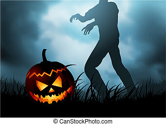 Unspeakable Horror - October 31st - A Halloween pumpkin head...