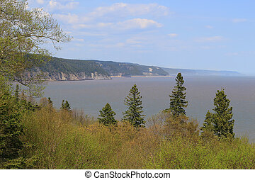 Unspoiled coast on the Fundy Trail Parkway - Unspoiled...