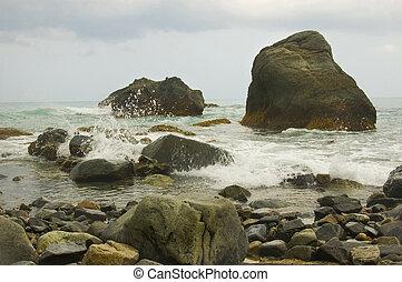 Unspoilt beach in Aurora Province, Philippines