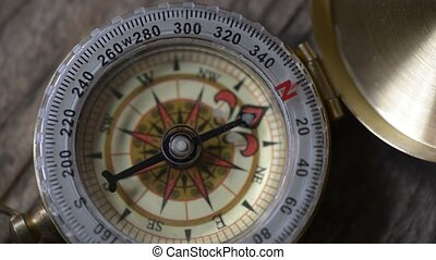 unstable compass arrow - concept of change