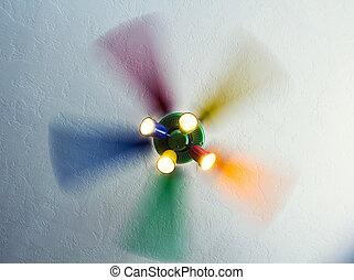 Unstoppable rainbow fan - Unstoppable rainbow light fan in...