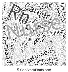 Unstoppable Surge Of Nursing Careers In Alabama Word Cloud Concept